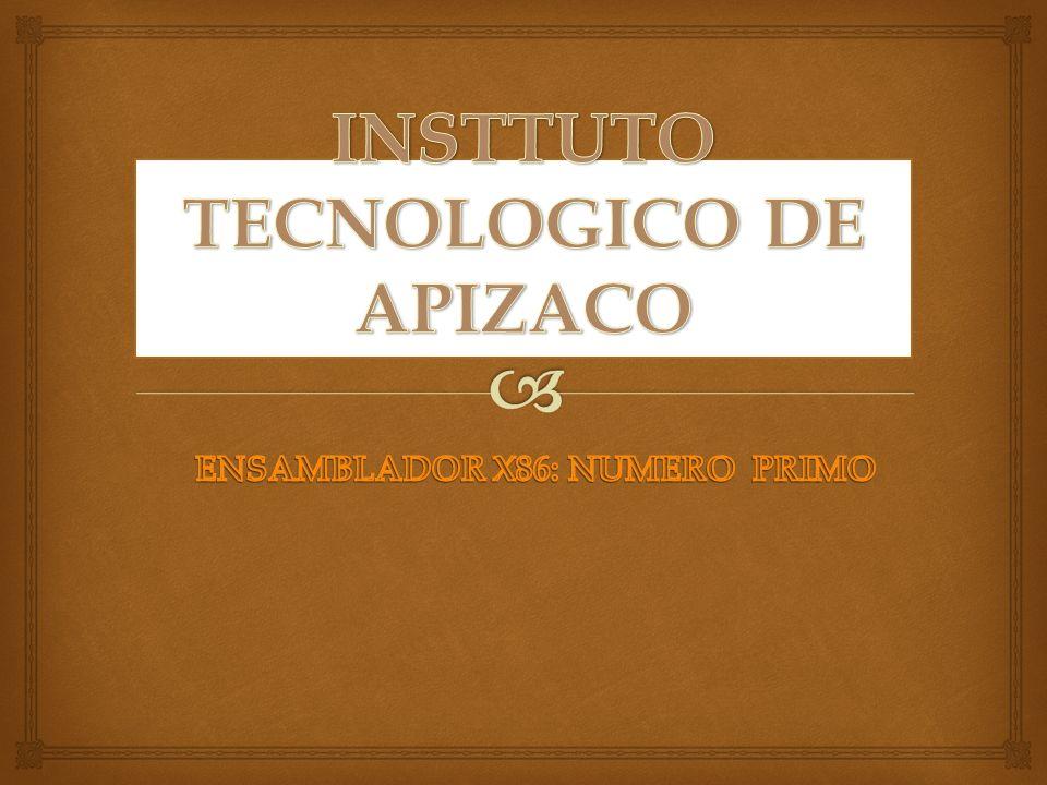 INSTTUTO TECNOLOGICO DE APIZACO