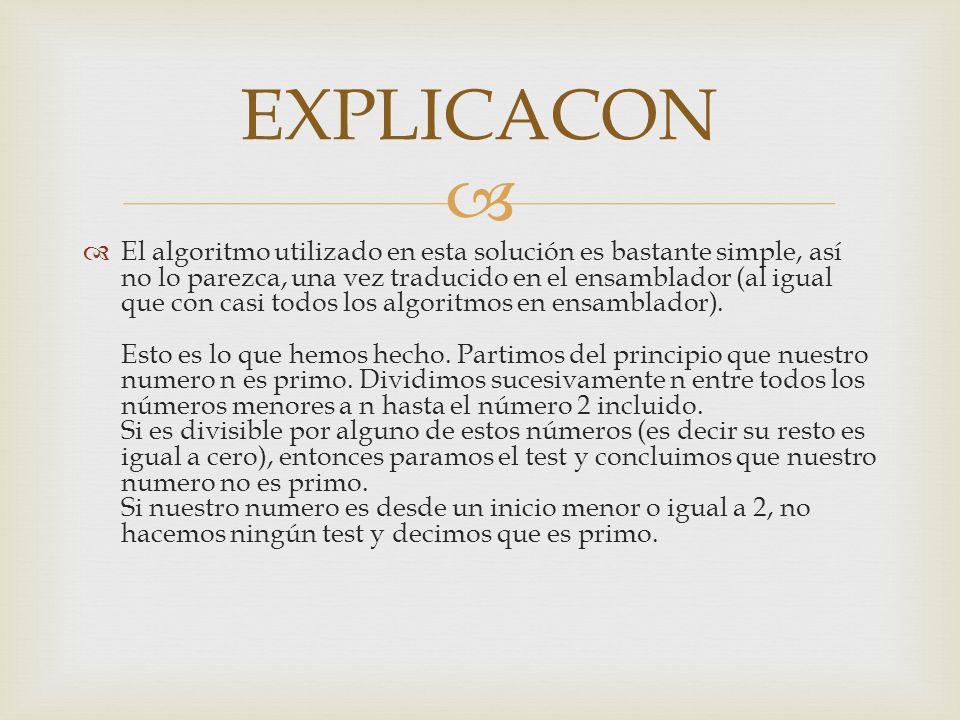 EXPLICACON