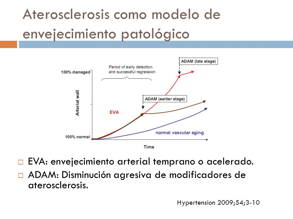 Aterosclerosis como modelo de envejecimiento patológico