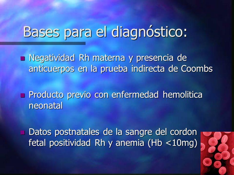 Bases para el diagnóstico: