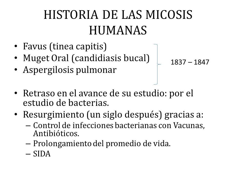 HISTORIA DE LAS MICOSIS HUMANAS