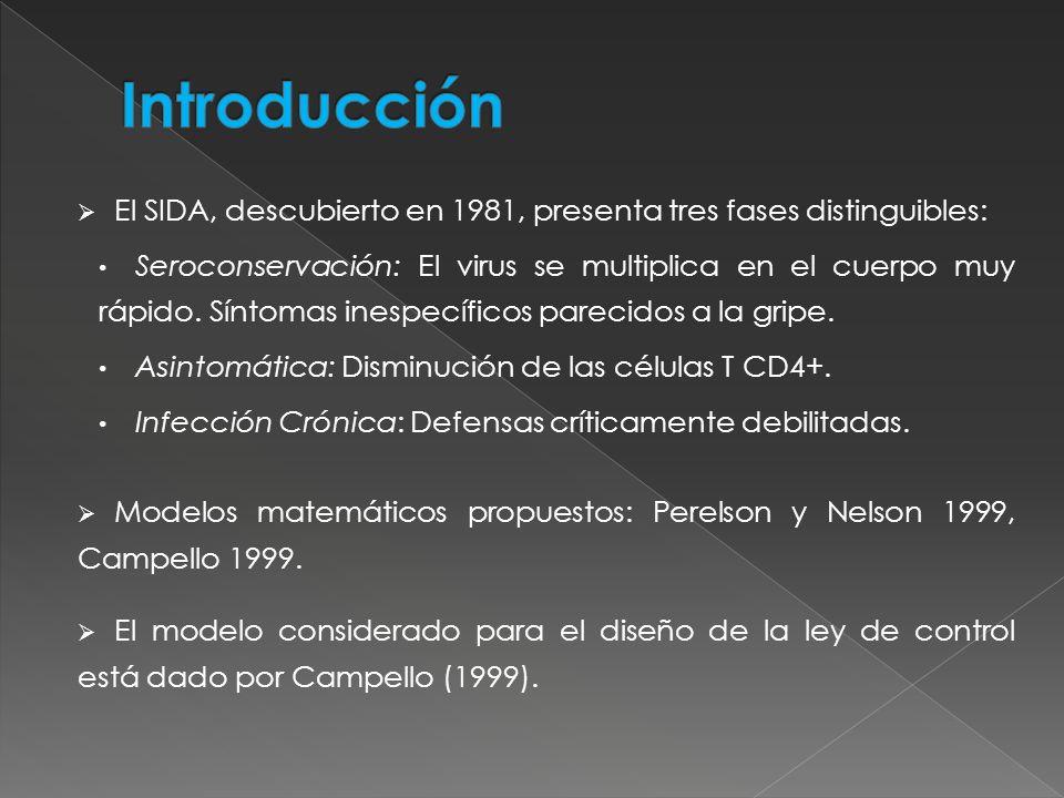 IntroducciónEl SIDA, descubierto en 1981, presenta tres fases distinguibles: