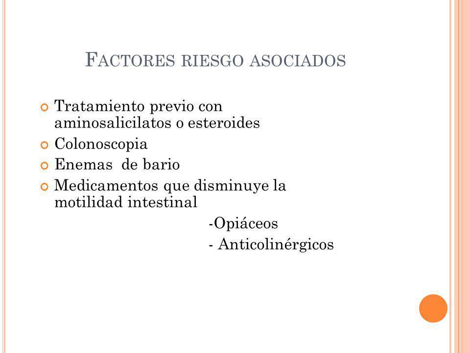 Factores riesgo asociados