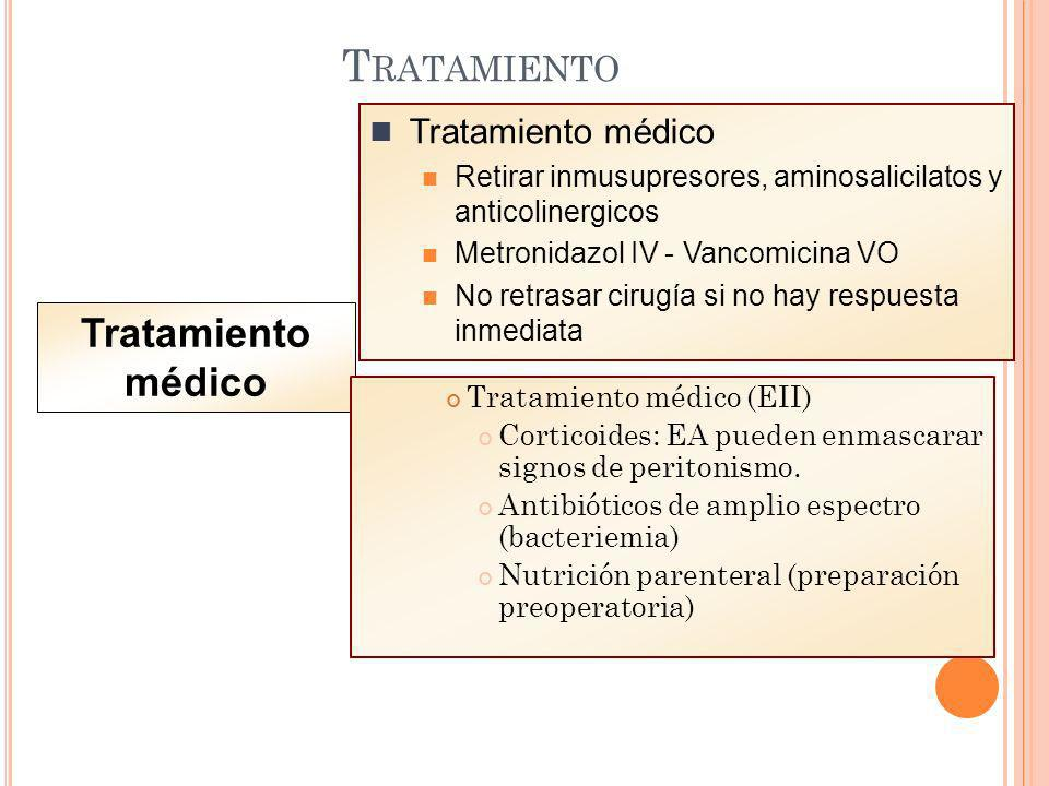 Tratamiento Tratamiento médico Tratamiento médico