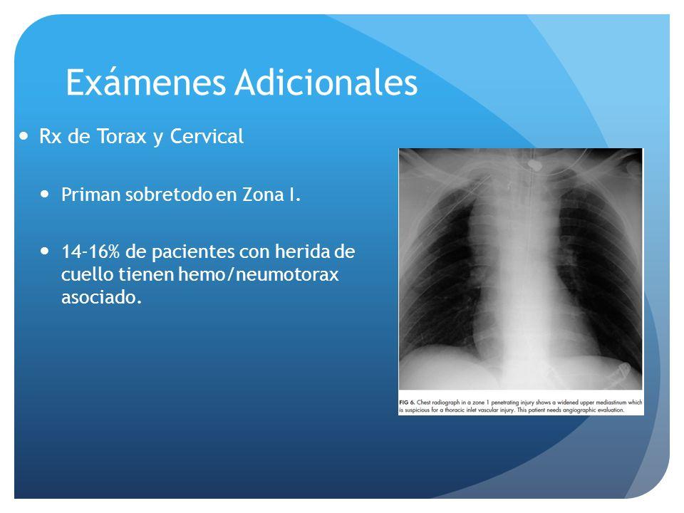Exámenes Adicionales Rx de Torax y Cervical