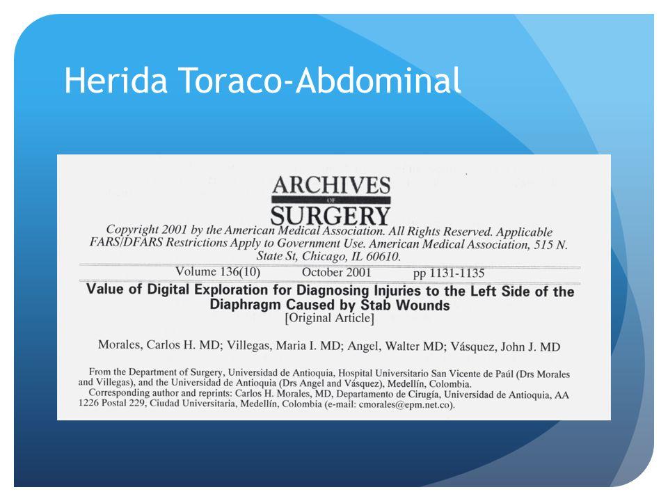 Herida Toraco-Abdominal