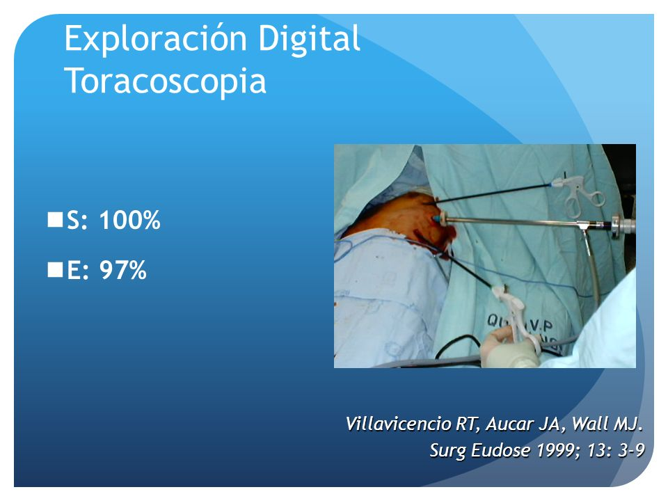Exploración Digital Toracoscopia