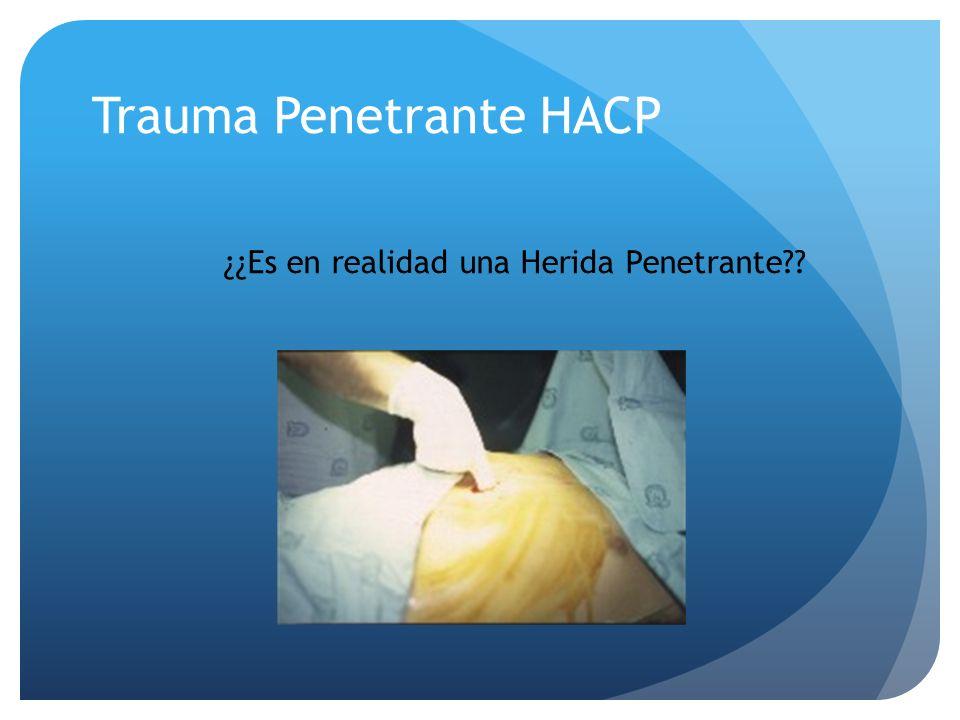 Trauma Penetrante HACP