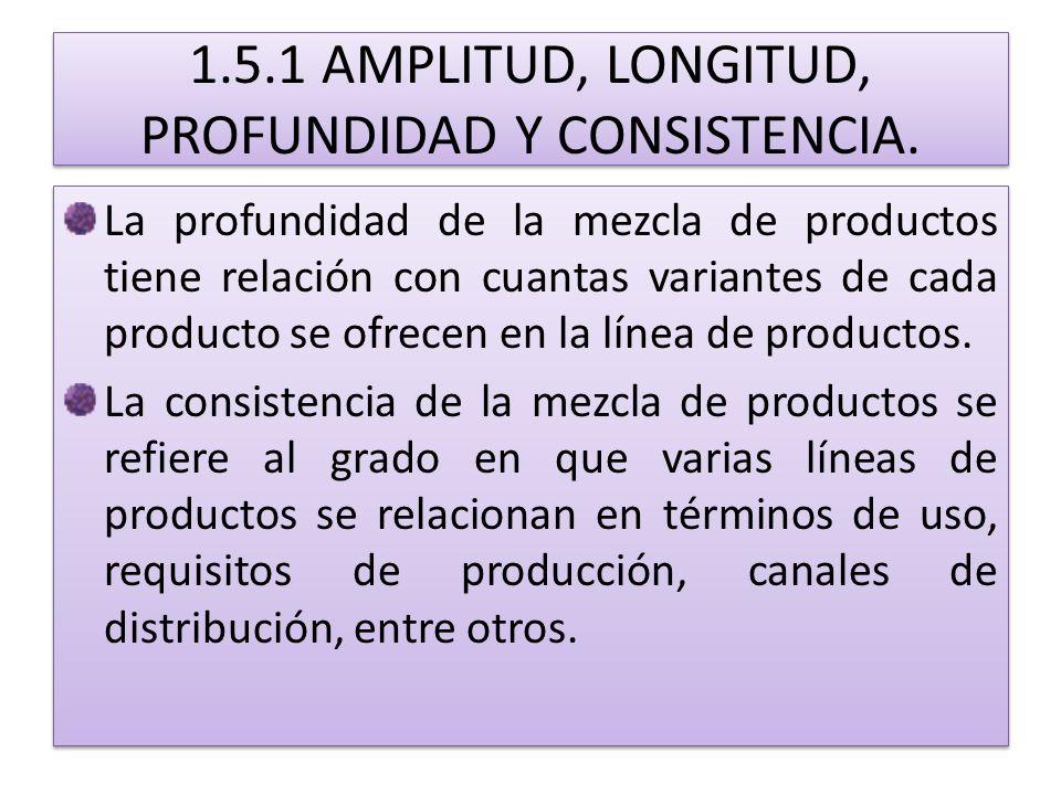 1.5.1 AMPLITUD, LONGITUD, PROFUNDIDAD Y CONSISTENCIA.
