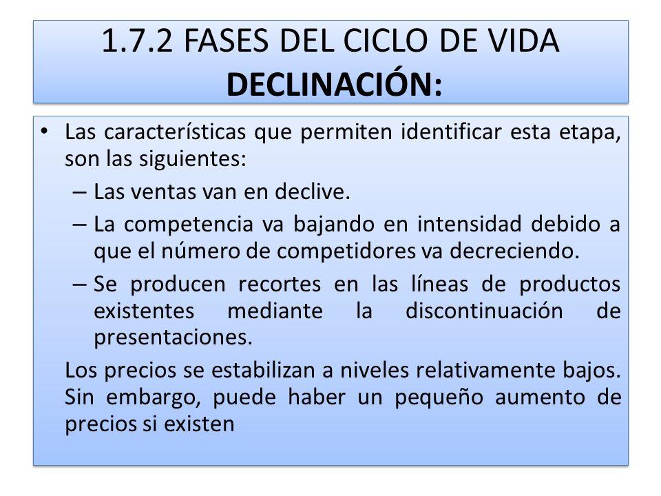 1.7.2 FASES DEL CICLO DE VIDA DECLINACIÓN: