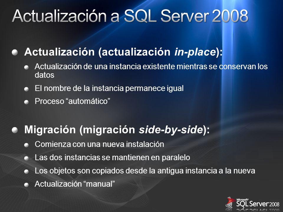 Actualización a SQL Server 2008