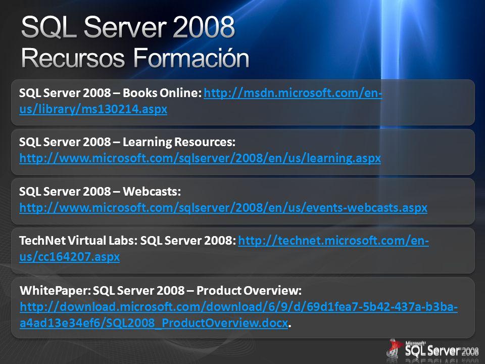 SQL Server 2008 Recursos Formación