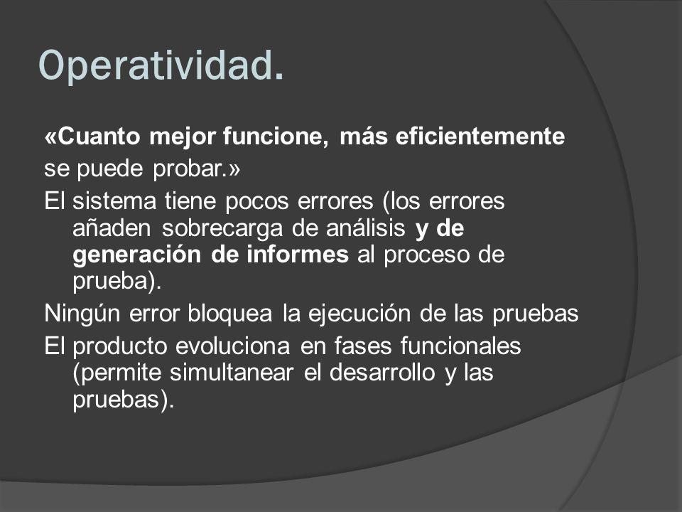 Operatividad.