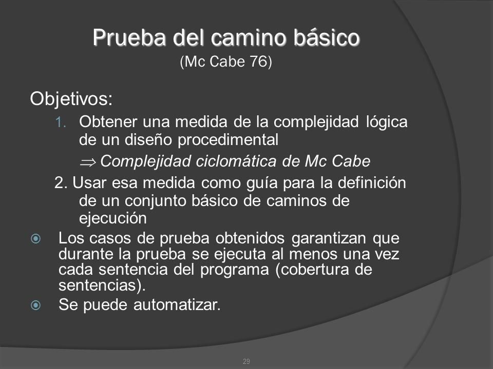 Prueba del camino básico (Mc Cabe 76)