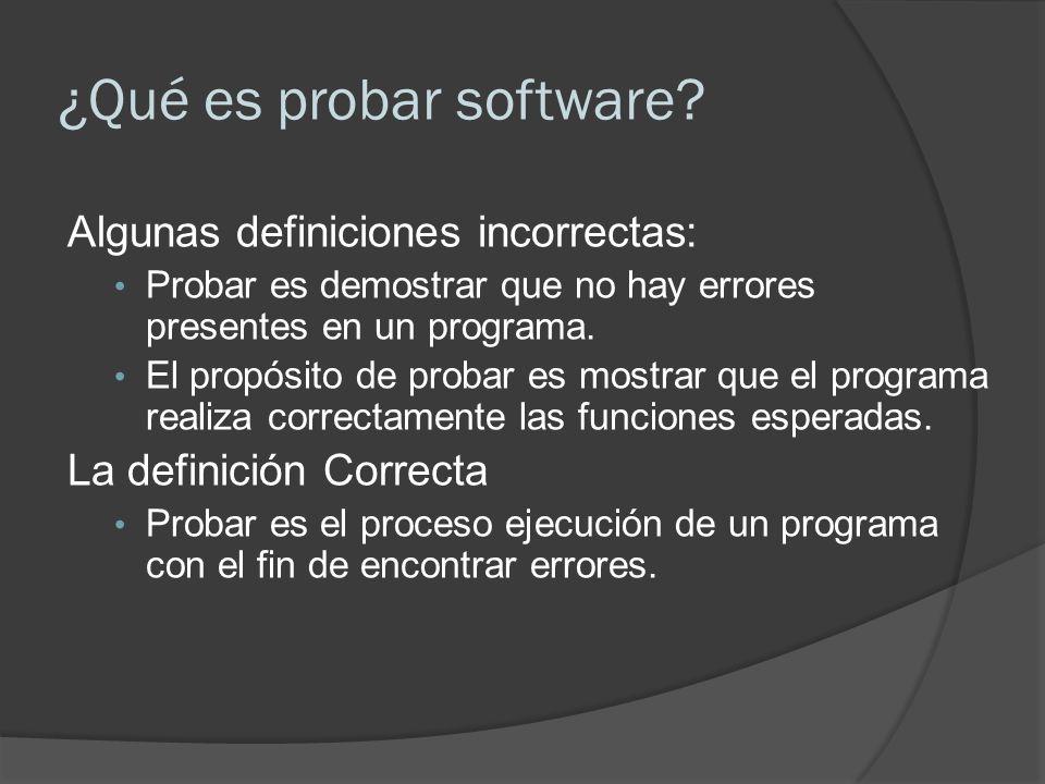 ¿Qué es probar software