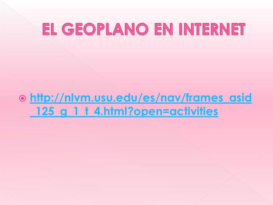 EL GEOPLANO EN INTERNET