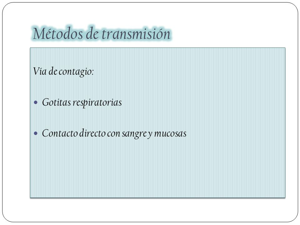Métodos de transmisión