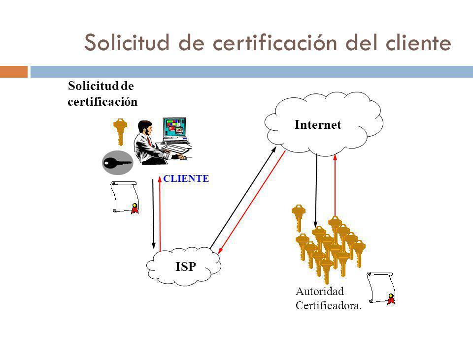 Solicitud de certificación del cliente
