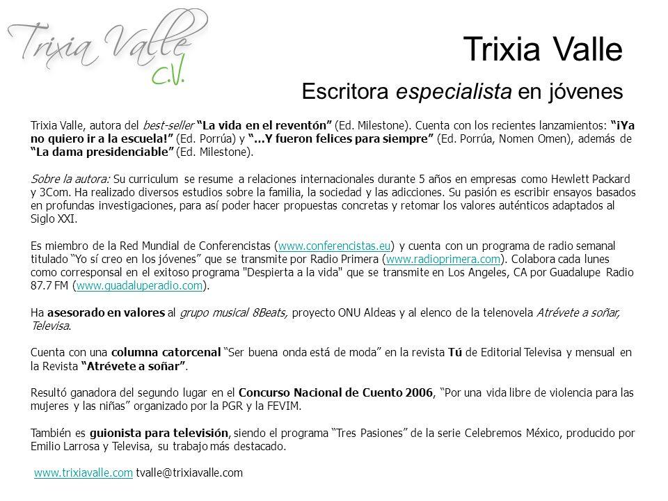 Trixia Valle Escritora especialista en jóvenes