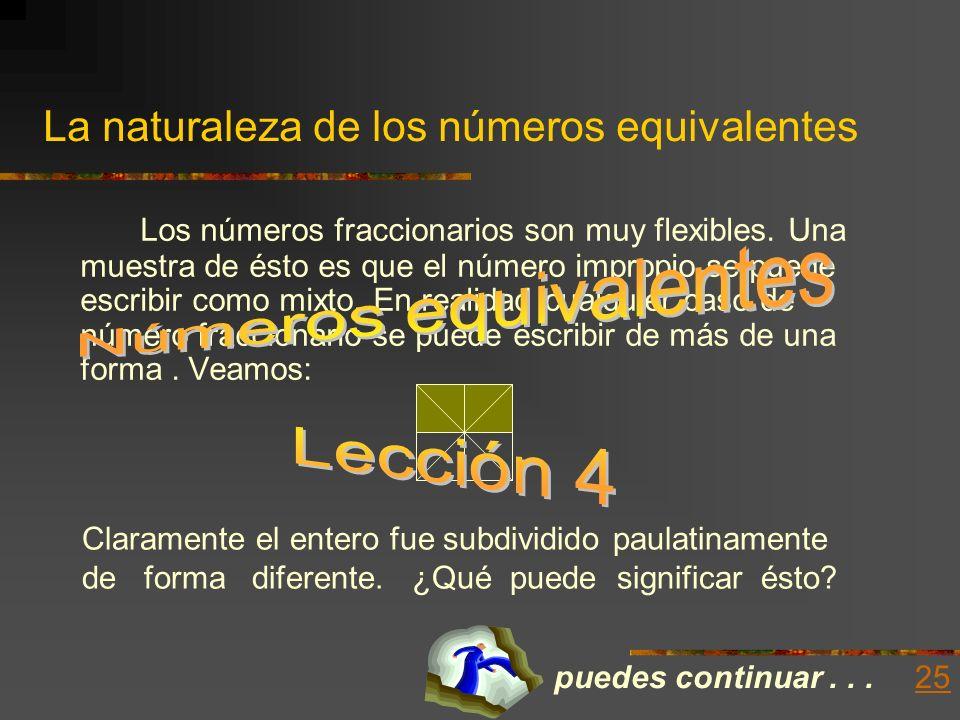 La naturaleza de los números equivalentes