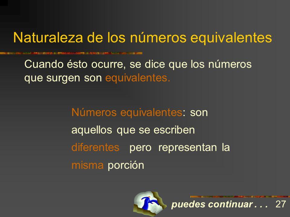 Naturaleza de los números equivalentes