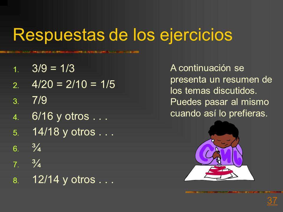 Respuestas de los ejercicios