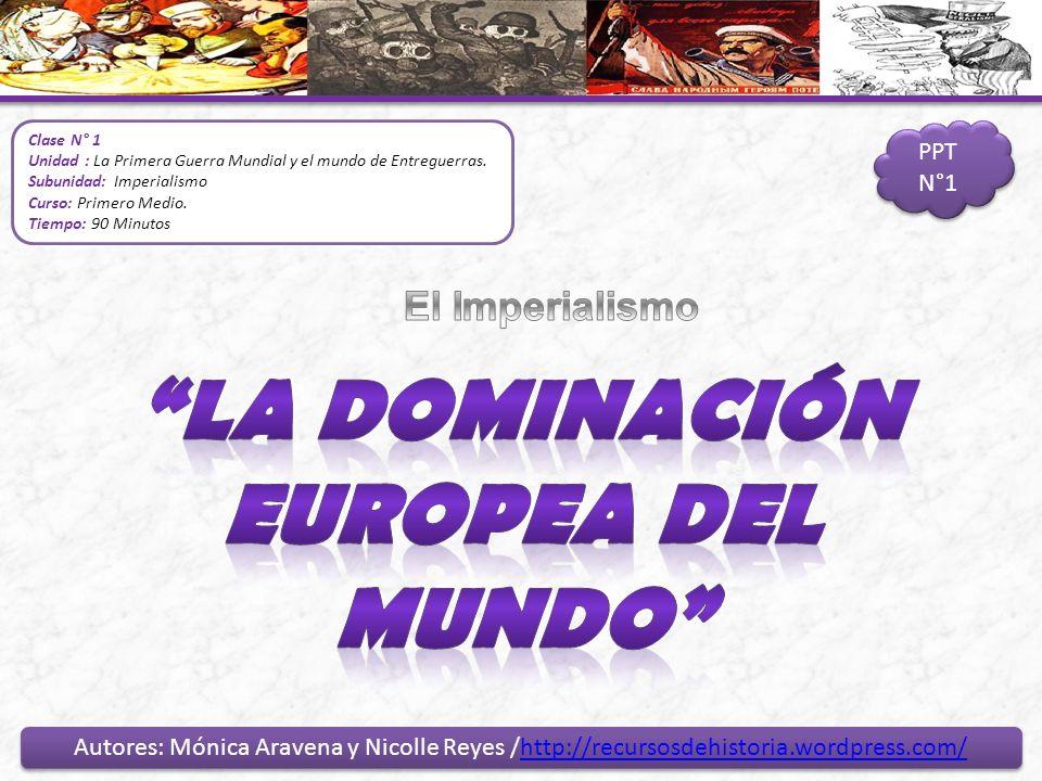 La dominación Europea del Mundo