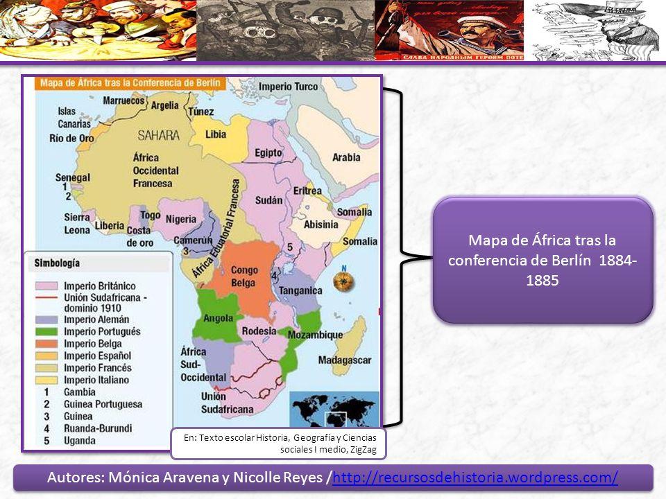 Mapa de África tras la conferencia de Berlín 1884-1885