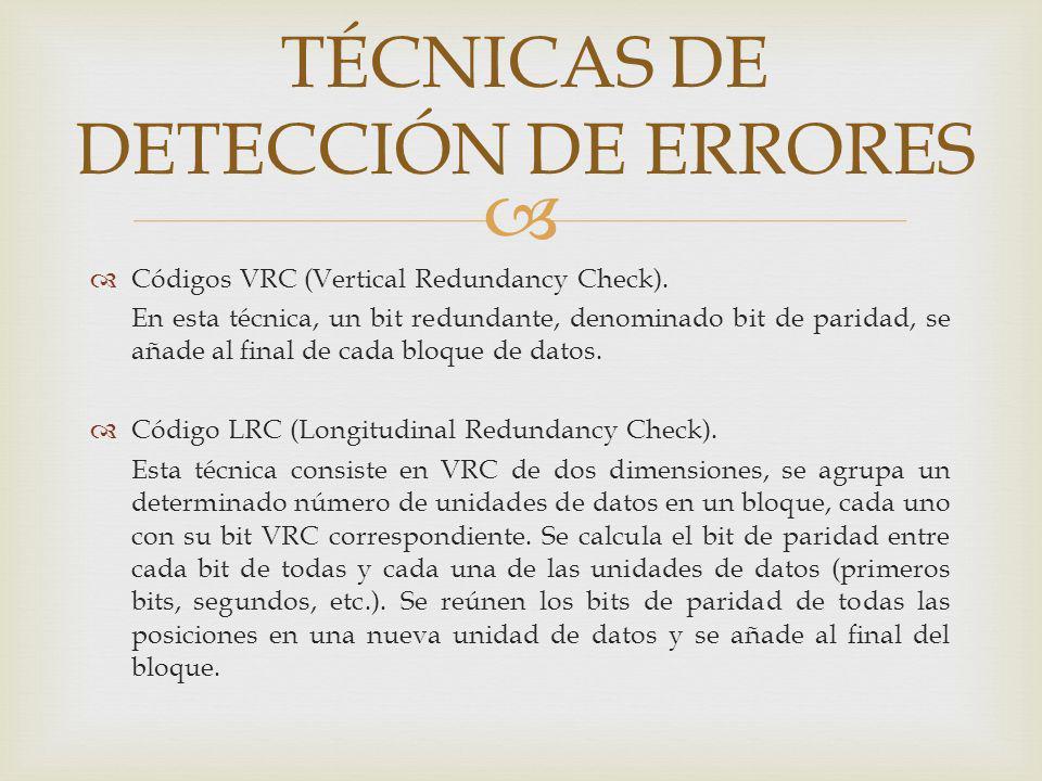 TÉCNICAS DE DETECCIÓN DE ERRORES