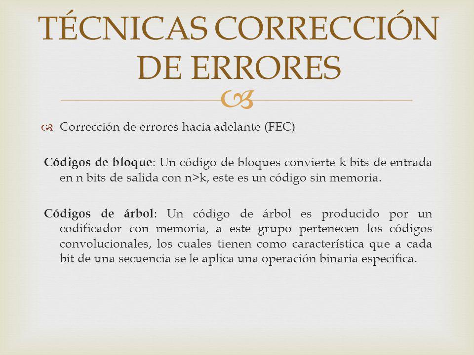 TÉCNICAS CORRECCIÓN DE ERRORES