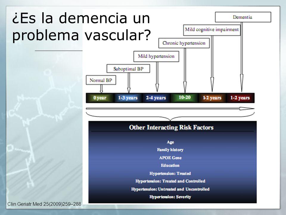 ¿Es la demencia un problema vascular
