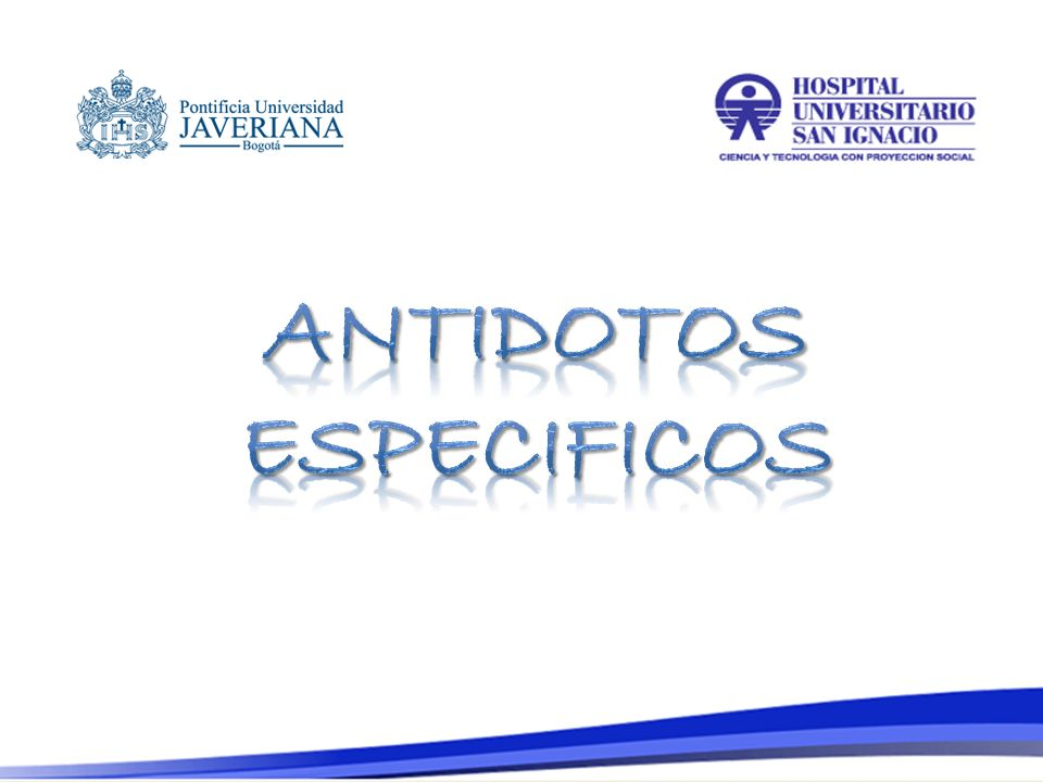 ANTIDOTOS ESPECIFICOS
