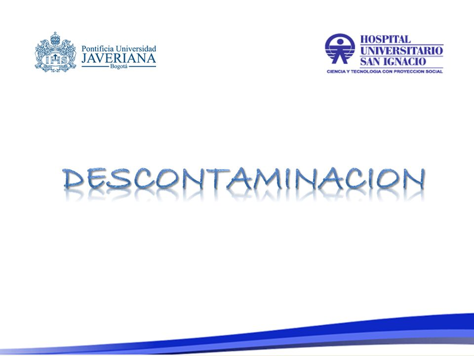 DESCONTAMINACION