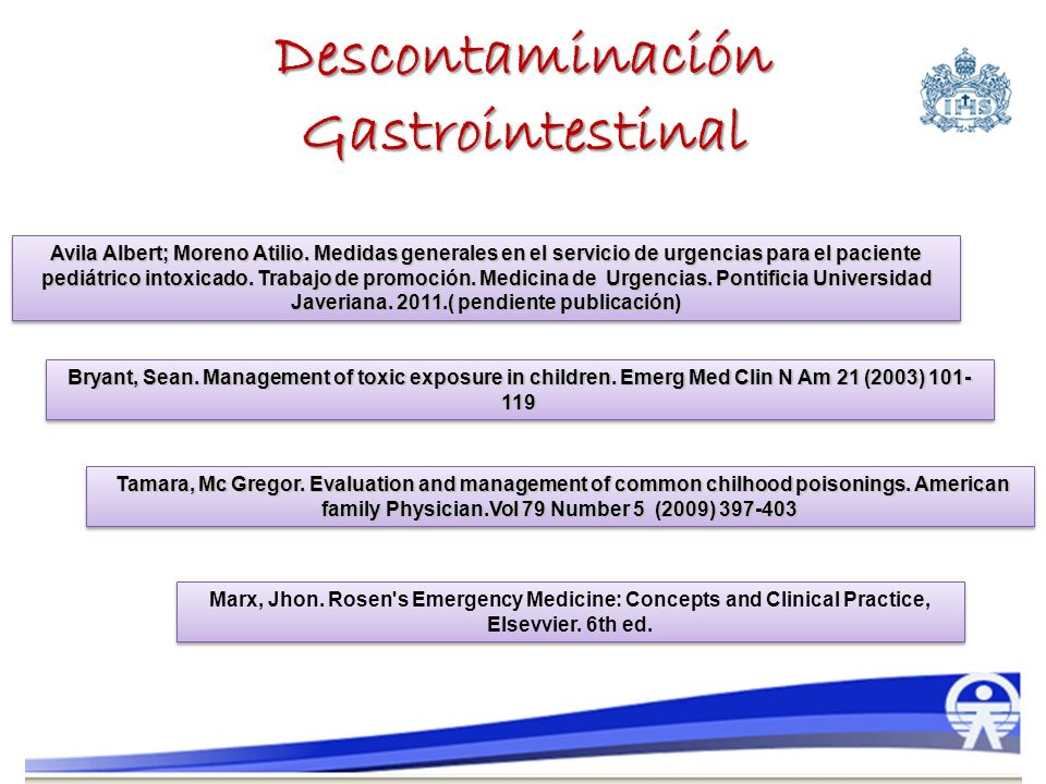 Descontaminación Gastrointestinal