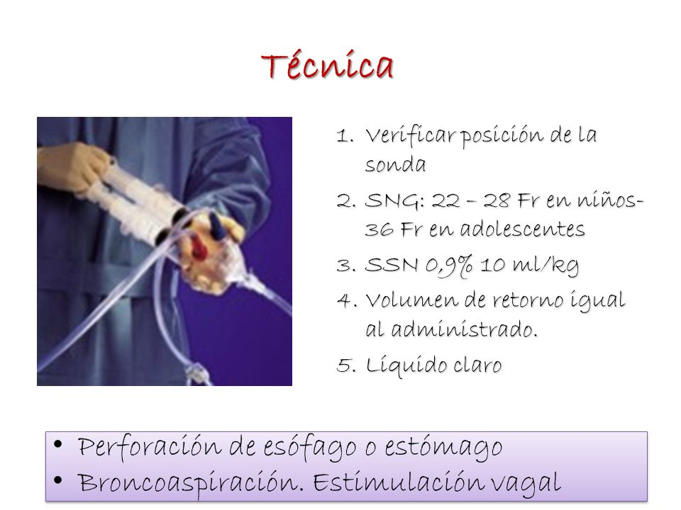 Técnica Perforación de esófago o estómago