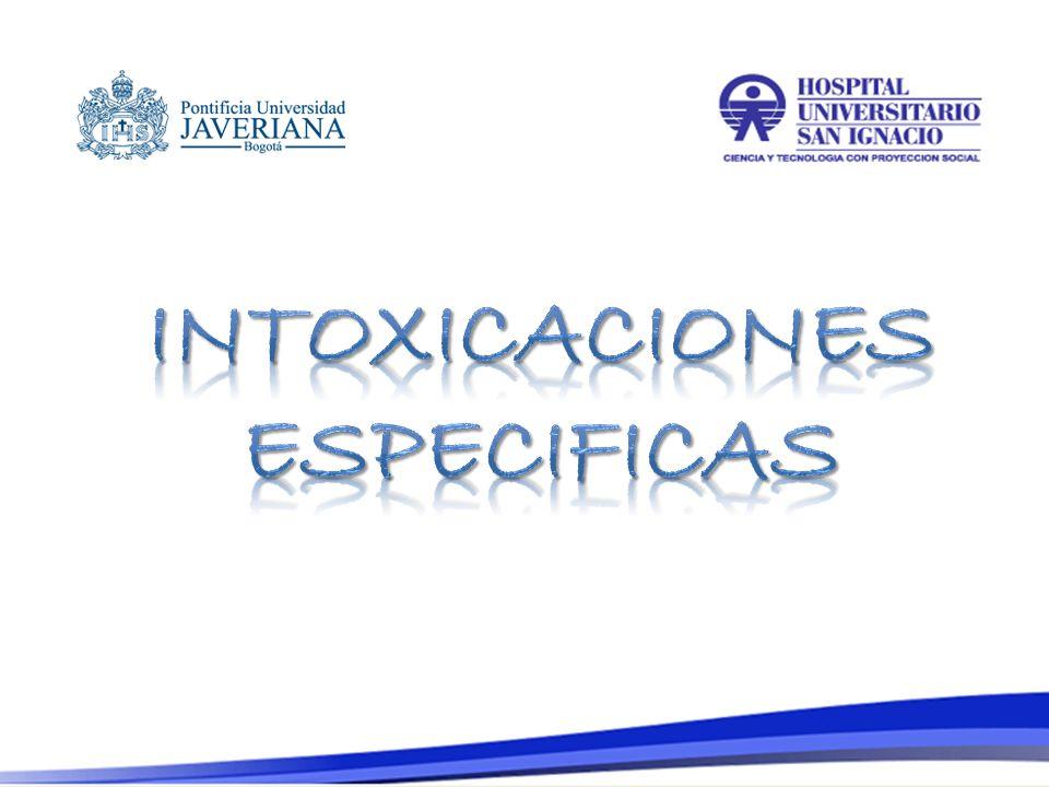 INTOXICACIONES ESPECIFICAS