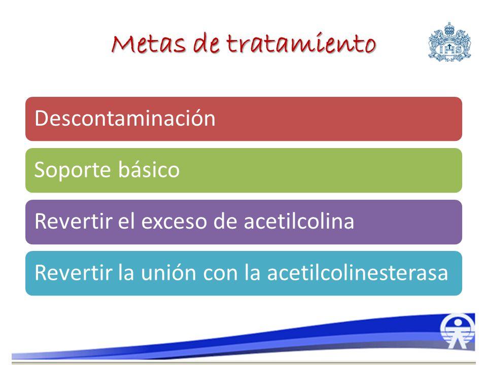 Metas de tratamiento Descontaminación Soporte básico