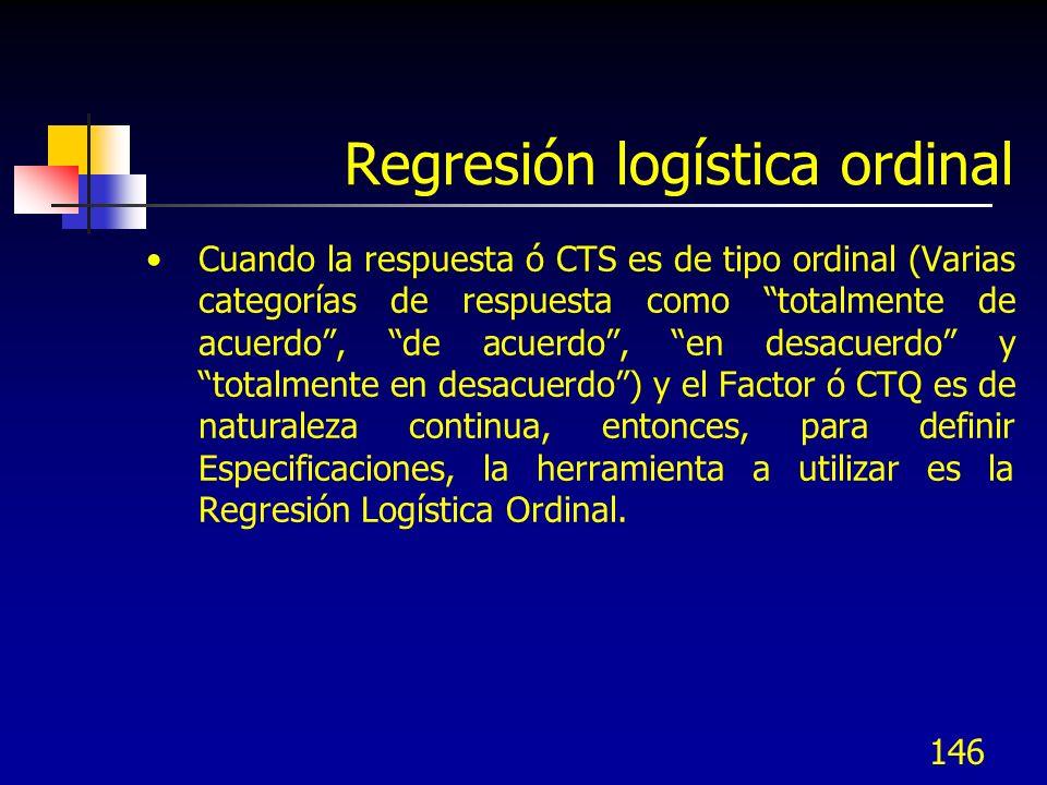 Regresión logística ordinal