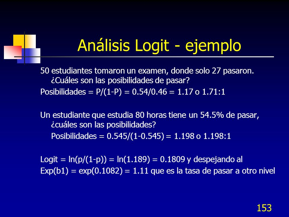Análisis Logit - ejemplo