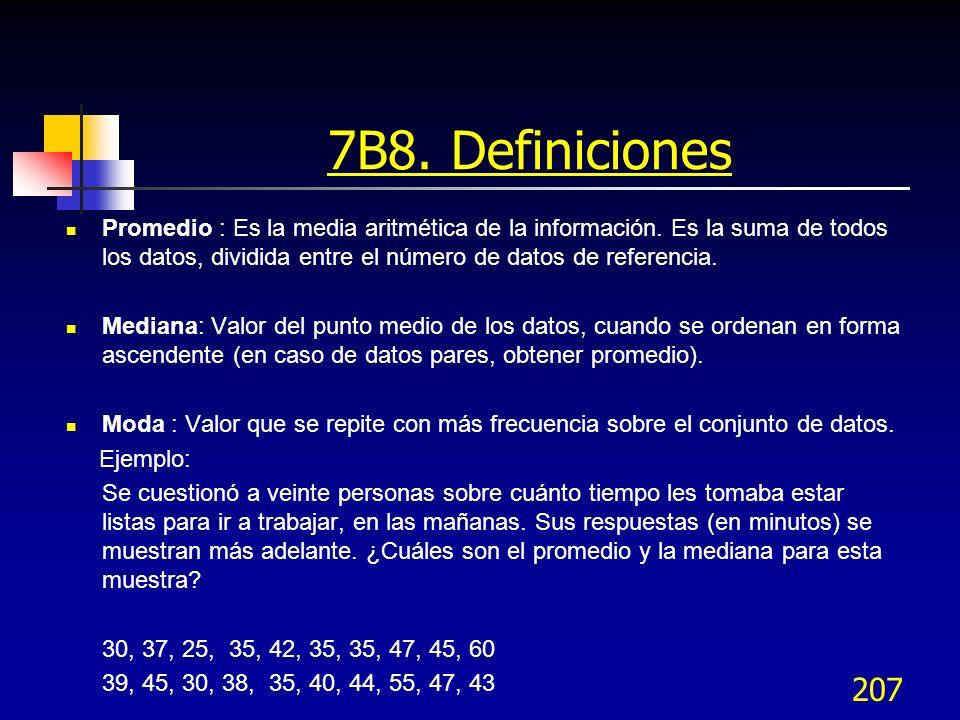 7B8. Definiciones