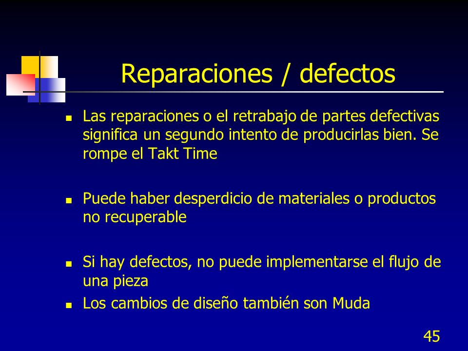 Reparaciones / defectos