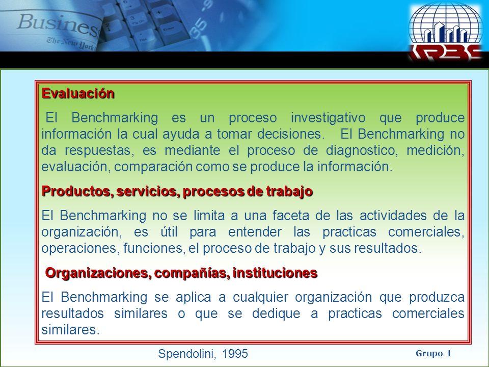 Productos, servicios, procesos de trabajo