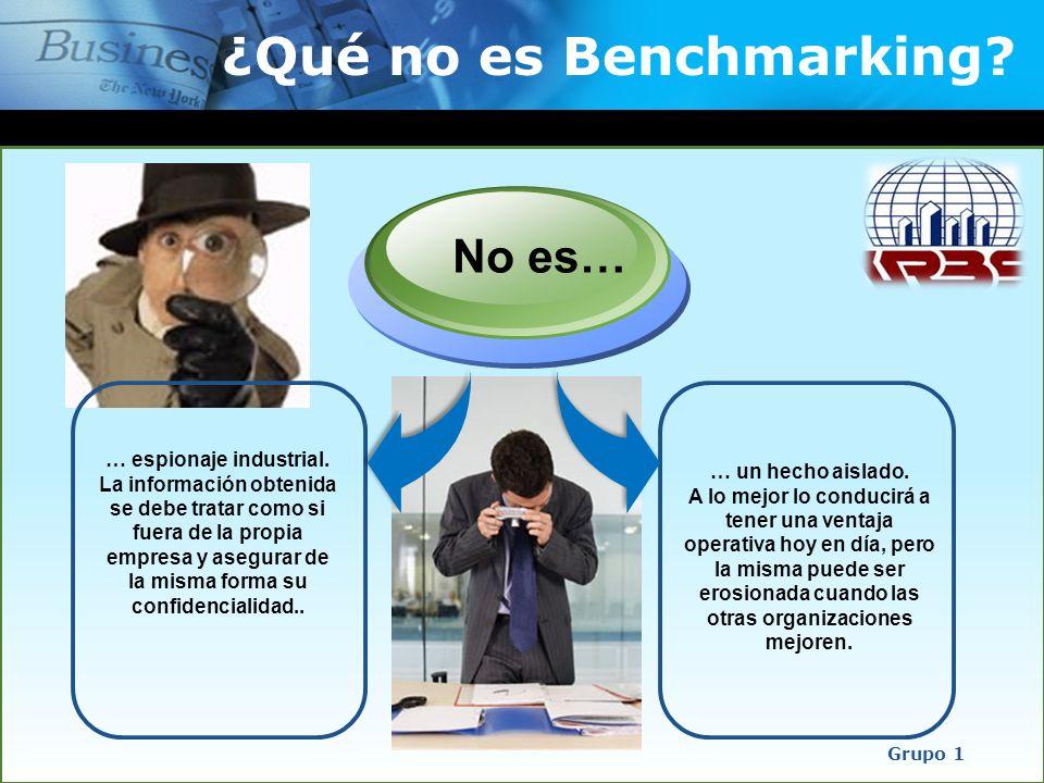 ¿Qué no es Benchmarking