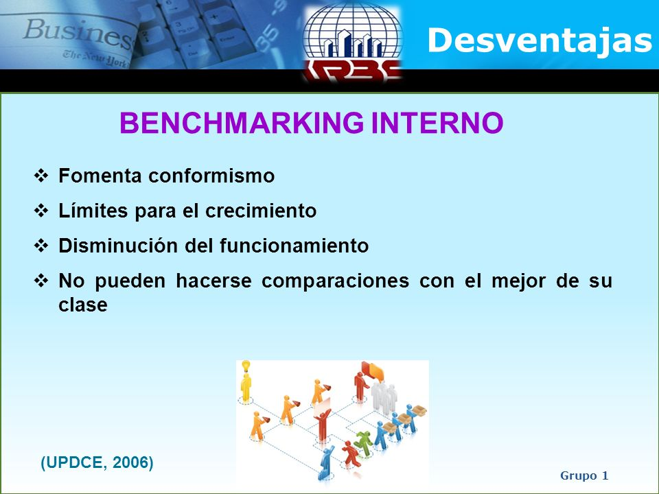 Desventajas BENCHMARKING INTERNO Fomenta conformismo
