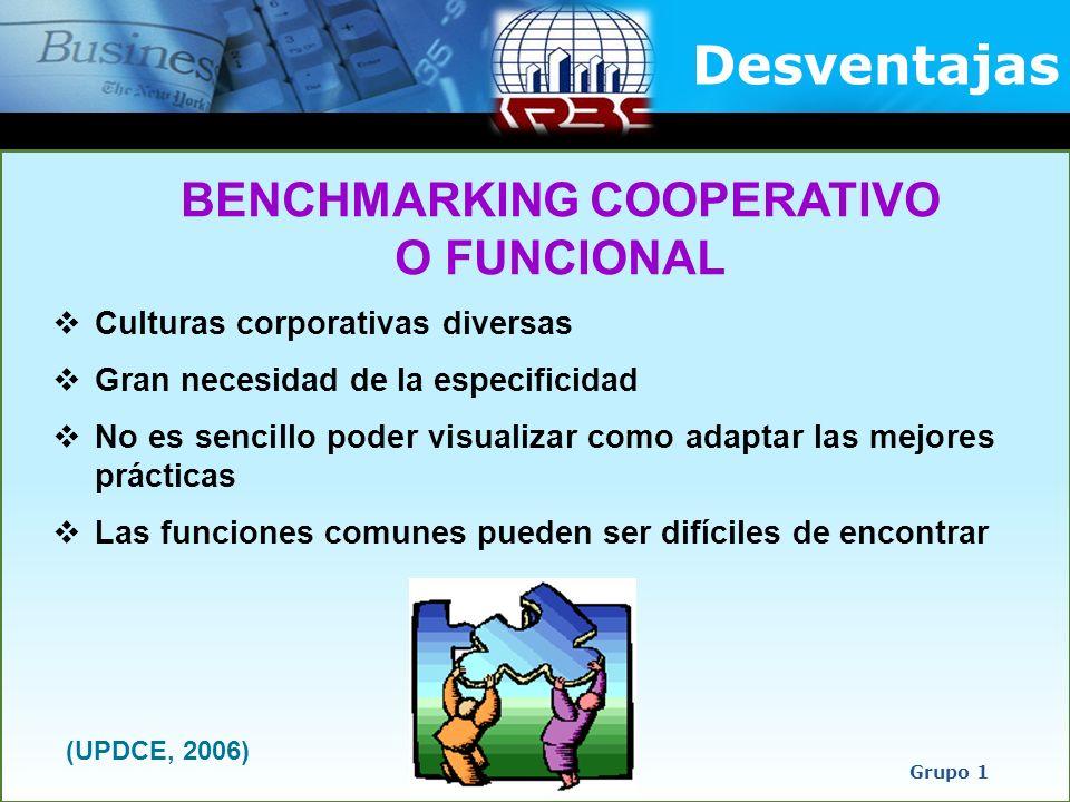 BENCHMARKING COOPERATIVO O FUNCIONAL