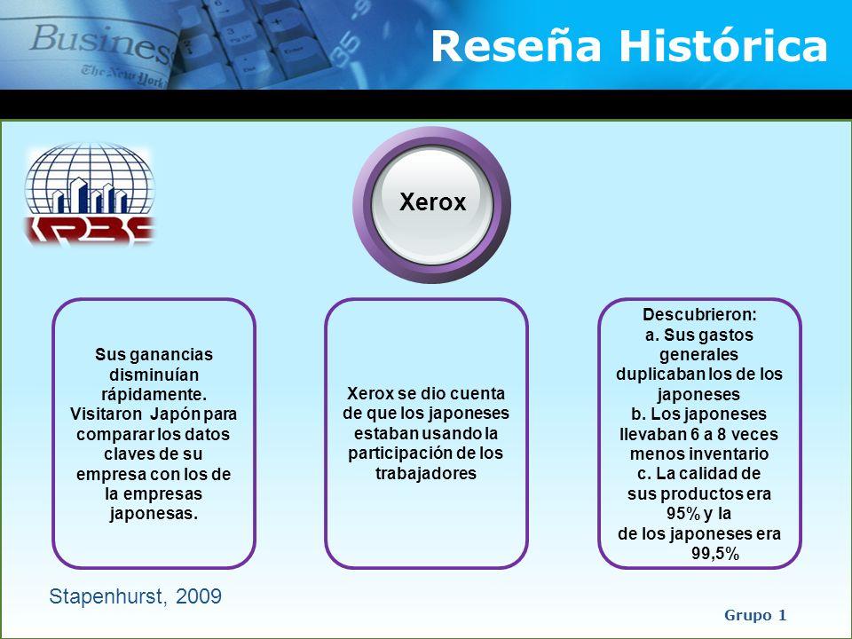 Reseña Histórica Xerox Stapenhurst, 2009 Descubrieron: