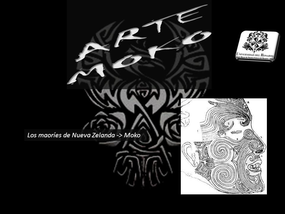 ARTE MOKO Los maoríes de Nueva Zelanda -> Moko