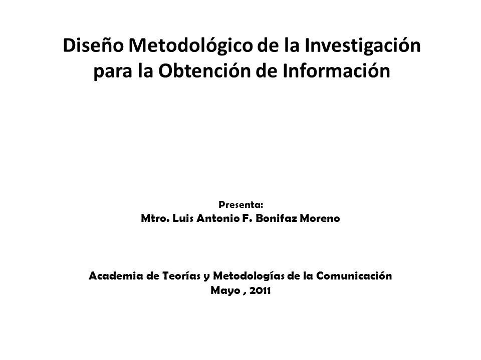 Diseño Metodológico de la Investigación para la Obtención de Información