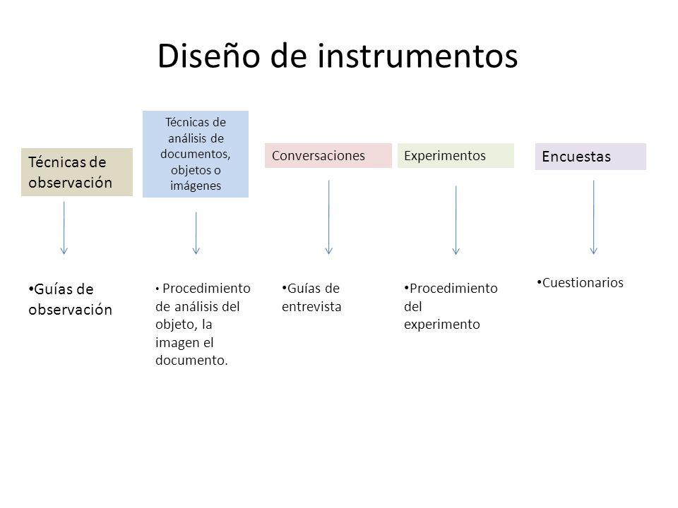 Diseño de instrumentos