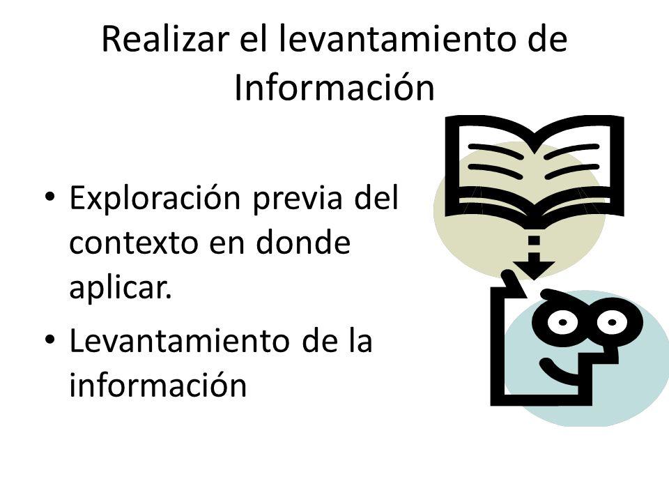 Realizar el levantamiento de Información